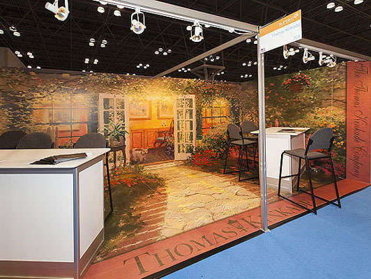 Thomas Kinkade trade show booth by Manny Stone Decorators