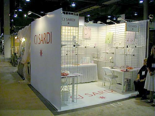 C.J. Sardi Jewelry display booth by Manny Stone Decorators