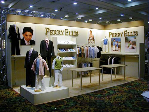 Perry Ellis trade show display by Manny Stone Decorators