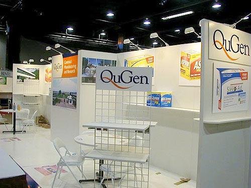 QuGen trade show booth by Manny Stone Decorators