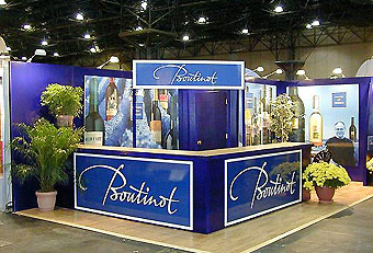 Boutinot trade show booth by Manny Stone Decorators