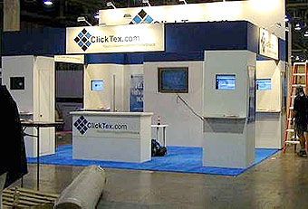 ClickTex booth by Manny Stone Decorators
