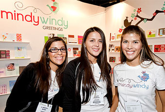 Mindy Windy trade show booth designed by Manny Stone Decorators