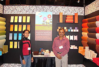 Sakar Papers trade show display by Manny Stone Decorators
