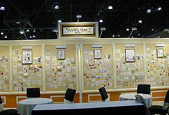 Socially Yours trade show booth by Manny Stone Decorators