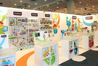 Toy Fair trade show booths designed by Manny Stone Decorators