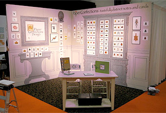 trade show booths designed by Manny Stone Decorators at the Stationery Show