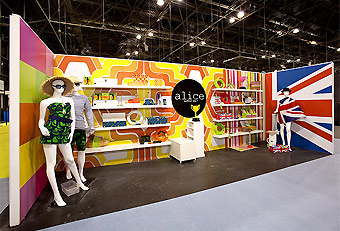 Manny Stone Decorators designed trade show booths for the Gift Fair