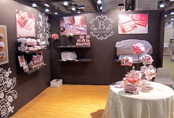 trade show booths for the Gift Fair designed by Manny Stone Decorators