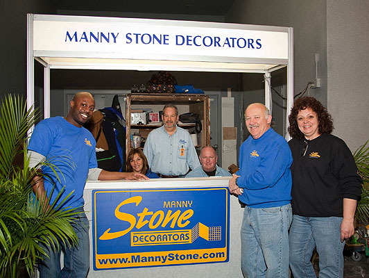 the staff from Manny Stone Decorators