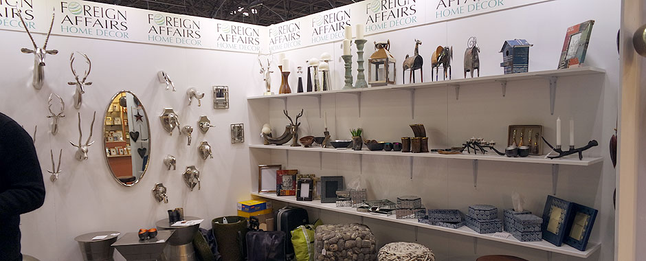a view of a Manny Stone Decorators design for a trade show booth